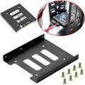 Полезный металлический Монтажный кронштейн для SSD HDD 2,5 дюйма до 3,5 дюйма, док-станция, винтовой держатель для жесткого диска, корпус для ПК