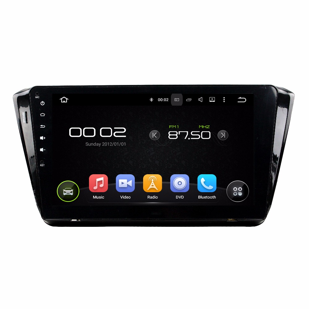 KLYDE 1 Din 10.1 Android 7.1 Car Multimedia Player For SKODA Superb 2015 Car Radio Stereo Quad Core Without DVD Audio