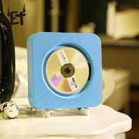 Lecteur CD ET lecteur de musique Bluetooth mural avec télécommande/prise casque 3.5mm/adaptateur USB prise en charge Radio FM MP3