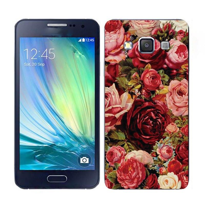 Окрашенные телефона чехол для Samsung Galaxy E5 E500H e500f рельефная печать мультфильм тонкий оригинальные задняя крышка Защитный В виде ракушки кожи