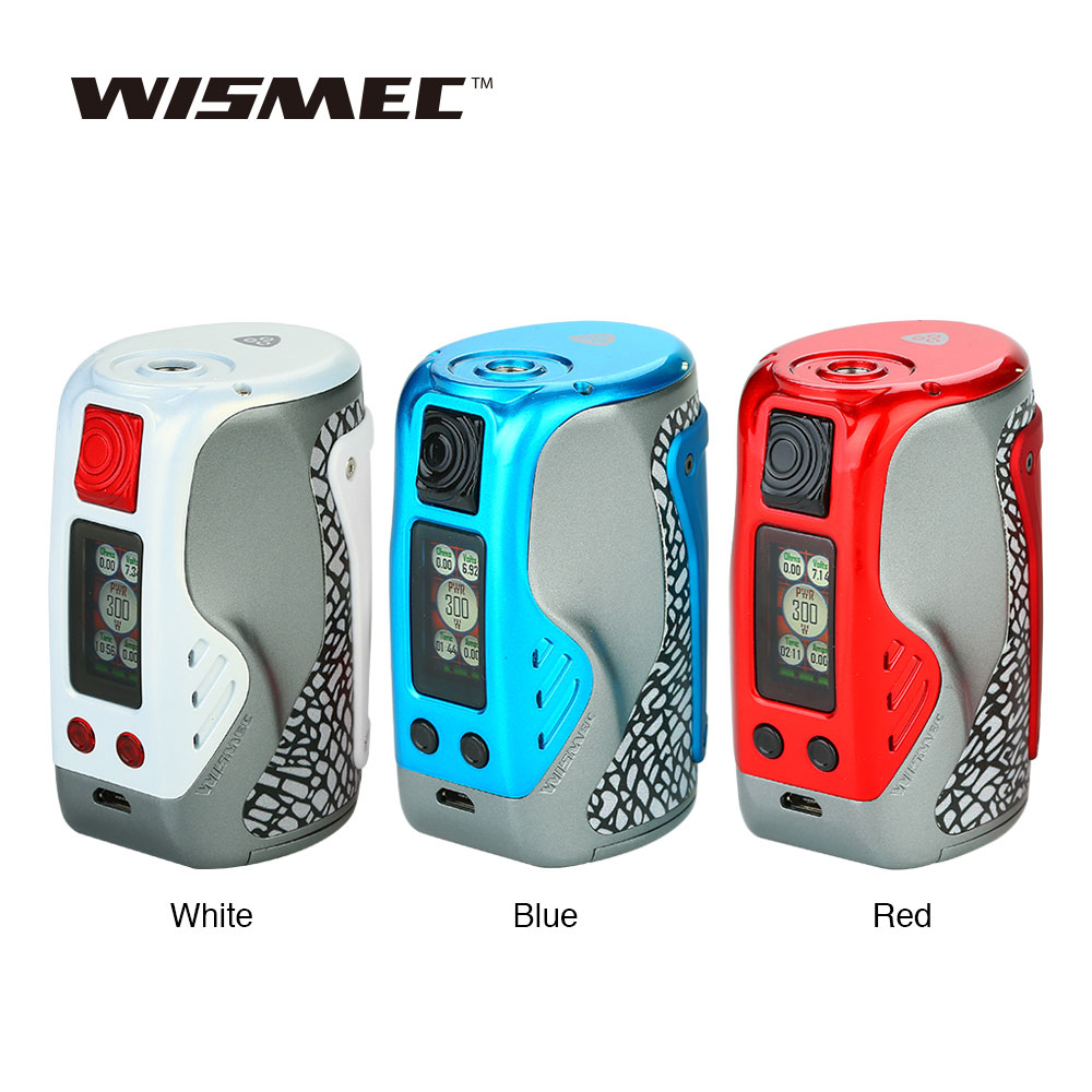 New Original WISMEC Reuleaux Tinker 300W TC MOD with 0.96-inch TFT Full Color Display & RTC Function Vs Reuleaux <font><b>RX200S</b></font> / Gen3 image