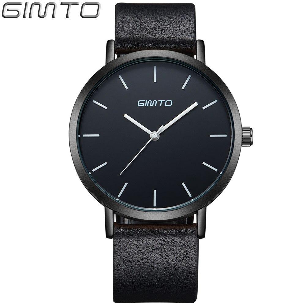 2016 GIMTO Casual Business Watches Men Brand Luxury Quartz Fashion Male Female Watch Women Dress Quartz