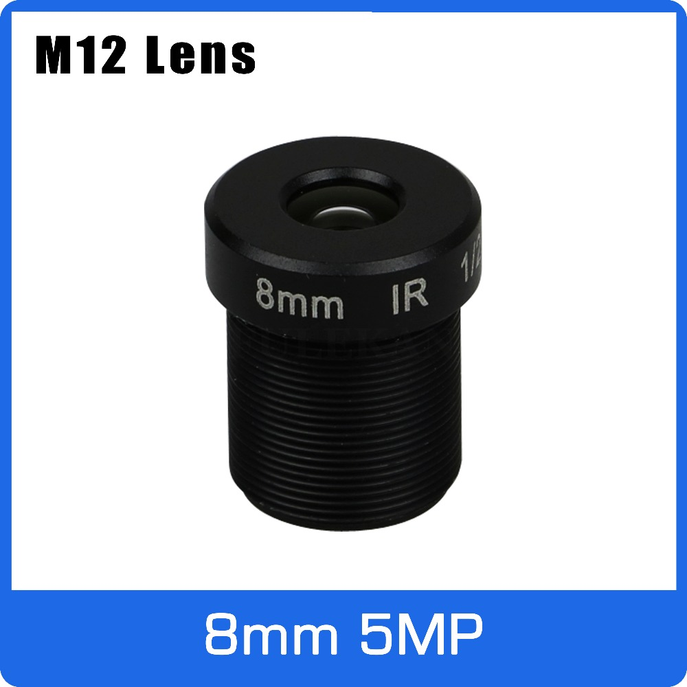 5Megapixel M12 Fixed 1/2.5 Inch 8mm CCTV Lens For HD 1080P/4MP/5MP AHD Camera IP Camera Free Shipping