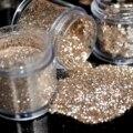 UV unhas glitter pó poeira Platina Cor shimmer lantejoulas pó do Pentágono 4 tamanhos para escolher