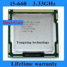 Lifetime warranty Core i5 660 3 33GHz 4M SLBLV Dual Core Four threads desktop processors Computer