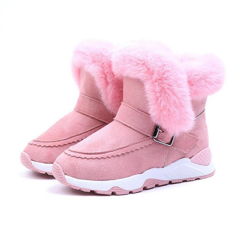 Children Boy Girls Boot Winter Plush