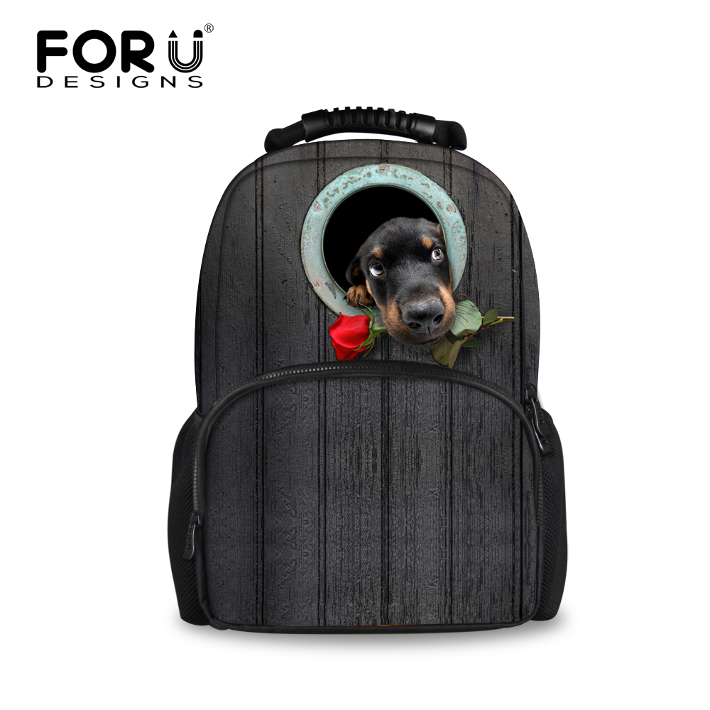 Designer Large 3D Dog Print School Backpacks for Children Boys Men Tourism  Bagpack Kids Girls Backbag Mochila Animal Backpack-in School Bags from  Luggage ...
