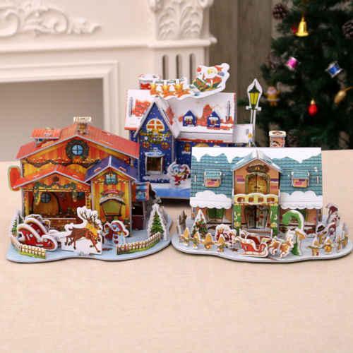 Tiny Christmas.New Merry Christmas Diy My Fairy Gardens Tiny Christmas Gingerbread Xmas Party House Micro Mini Resin Figurine