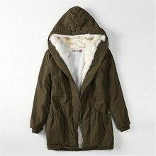 Olgitum 2017 зимняя куртка женщин парки пальто army green меховым воротником с капюшоном девушку пиджаки свободные clothing for women lj972y