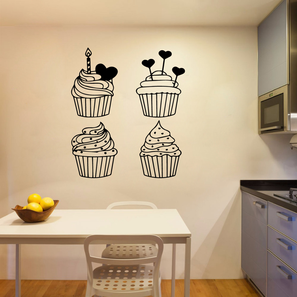 NEW ice cream Wall Art Decal Wall Sticker Mural vinyl Stickers Wall Decal Home Accessories in Wall Stickers from Home Garden