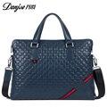 2016 High Quality Brand Genuine Cow Leather Business Handbag Men 14 inch Laptop Bags Briefcase Soft Surface Crossbody Bag