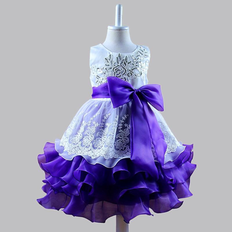 Pailletten Formale Abendkleid Blume Hochzeit Prinzessin Kleid - Kinderkleidung - Foto 3