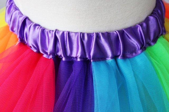 2017 Newest Baby Girl Skirt Kids Rainbow Tutu Skirts Hot Selling Pettiskirt Tutu Custome Party Wedding Dance Skirt