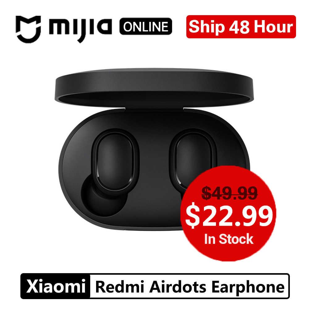 Global Xiaomi redmi airdots TWS Bluetooth 5,0 наушники стерео беспроводной шумоподавление с микрофоном громкой связи Наушники с управлением AI