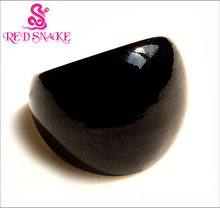 RED SNAKE Free Shipping Fashion Ring Handmade Classic Black  Murano Glass Rings