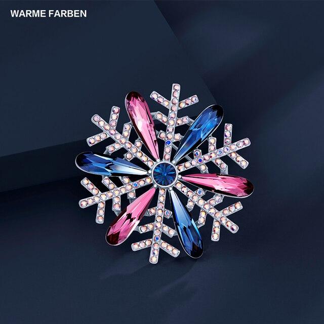 comprar tienda oficial original mejor calificado € 27.78 35% de DESCUENTO|Warme Farben señoras broches cristal de Swarovski  Vintage moda mujeres suéter broche azul aniversario joyería regalos para el  ...