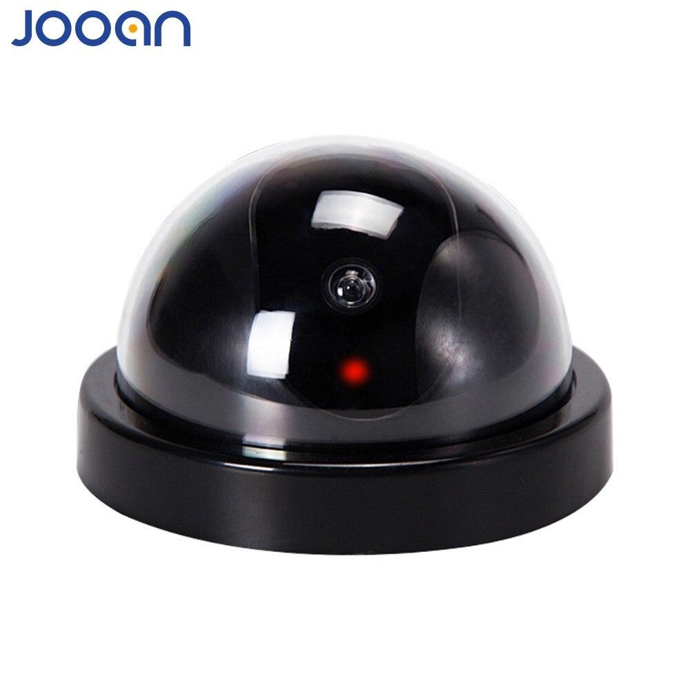 JOOAN Casa Familia CCTV Cámara ficticia falsa vigilancia seguridad Domo Mini cámara ficticia con luz LED roja parpadeante