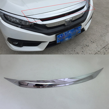 Car body kits  ABS front cover windshield moulding Pedal Sticker For HONDA CIVIC 2017