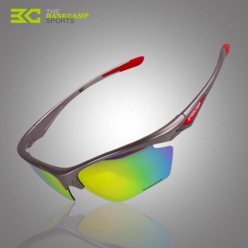 Prix pour BASECAMP Polarisées Vélo Lunettes Extérieure Sport Course à Pied Randonnée Vélo lunettes de Soleil Lunettes 5 Objectif Vélo Accessoires H5304