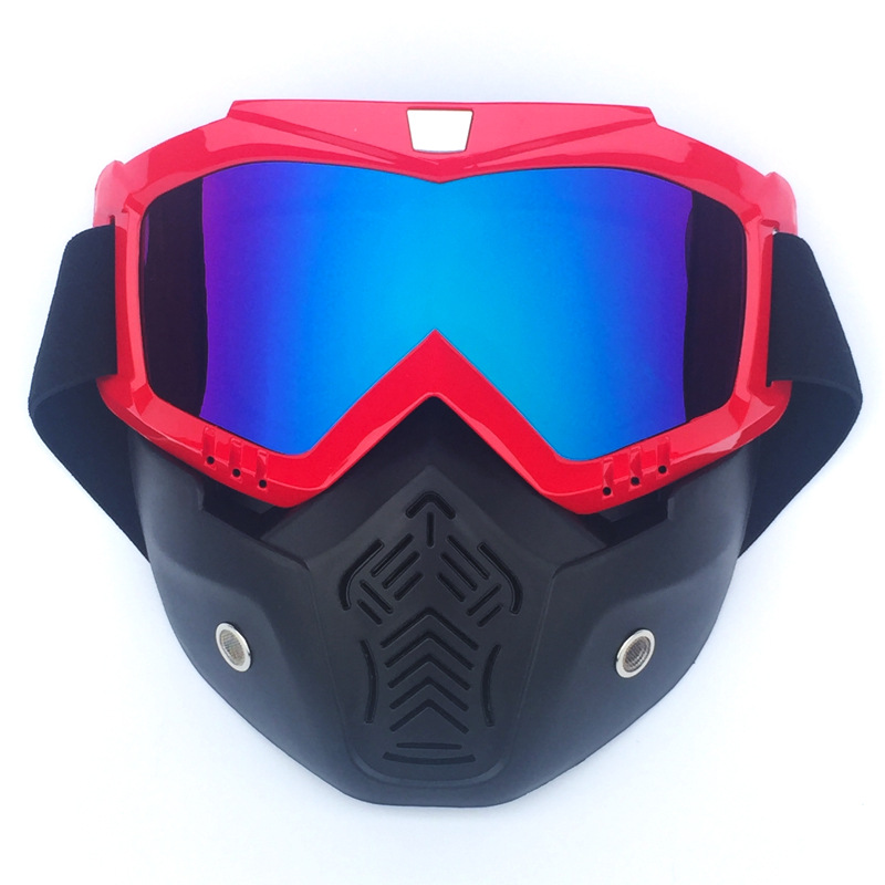 Motocross Goggles Motorcycle Face Mask Motorbike Motor Open Face Detachable Goggle Helmets Vintage Glasses Universal in Motorcycle Glasses from Automobiles Motorcycles