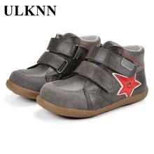 ULKNN Anak Sepatu Anak Laki-laki Bayi Bayi Anak Sepatu Kulit Asli Kasual Datar Dengan Olahraga Bernapas Pijat chaussure enfant