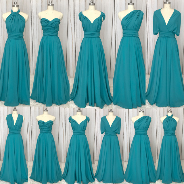 SuperKimJo Vestido Longo 2018 Chiffon Convertible Bridesmaid Dresses ...