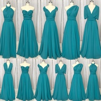 SuperKimJo Vestido Longo 2018 Chiffon Convertible Bridesmaid Dresses Long Mixed Styles A Line Cheap Wedding Guest Dresses