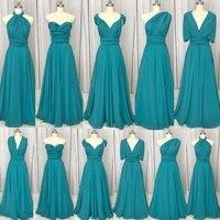 SuperKimJo Vestido Longo 2018 Chiffon Convertible Bridesmaid Dresses Long Mixed Styles A Line Cheap Wedding Guest