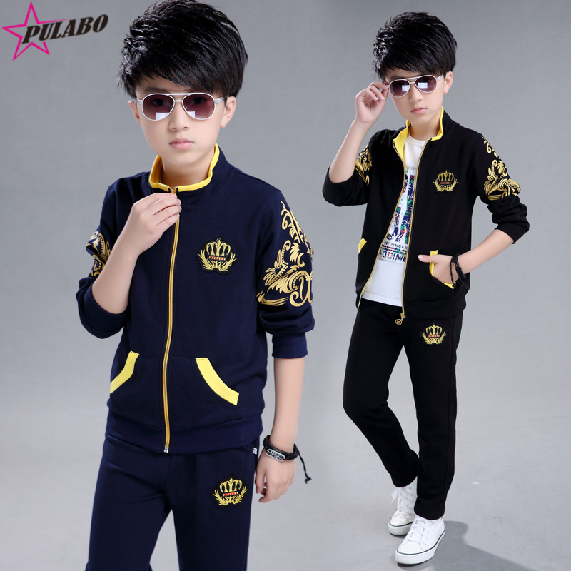2017 Fashion Leisure Kids Clothes Sets spring Cotton Long Sleeve Baby Boy Sports Suits new brand fall children's sport suit  new brand 2pcs ofcs baby boy sets cotton spring