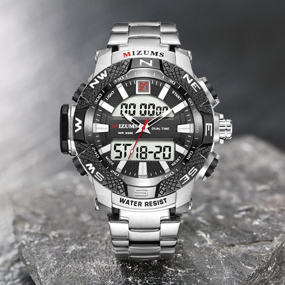 wholesale Military Watches Men Luxury Brand Full Steel Watch Sports Quartz Multi-function LED Waterpoof Gold Wristwatch Relogio Masculino 2019 drop shipping (17)