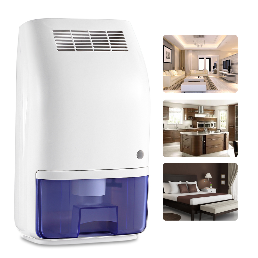 Invitop 700ml Portable Dehumidifier Mini Home Dehumidifier Air Dryer Moisture Absorber Ultra-Quiet Auto-Off Air Dehumidifier