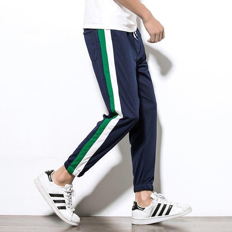 Mens Sweatpants Summer Fitness Pants Men Elastic Breathable Sweat Pants Grey Drawstring Hip Hop Harem Pants