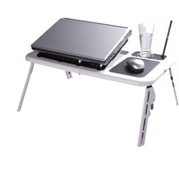 2017 Portable Laptop Stand USB Folding Laptop Table Bed Laptop Table PC Suporte Notebook Stand With