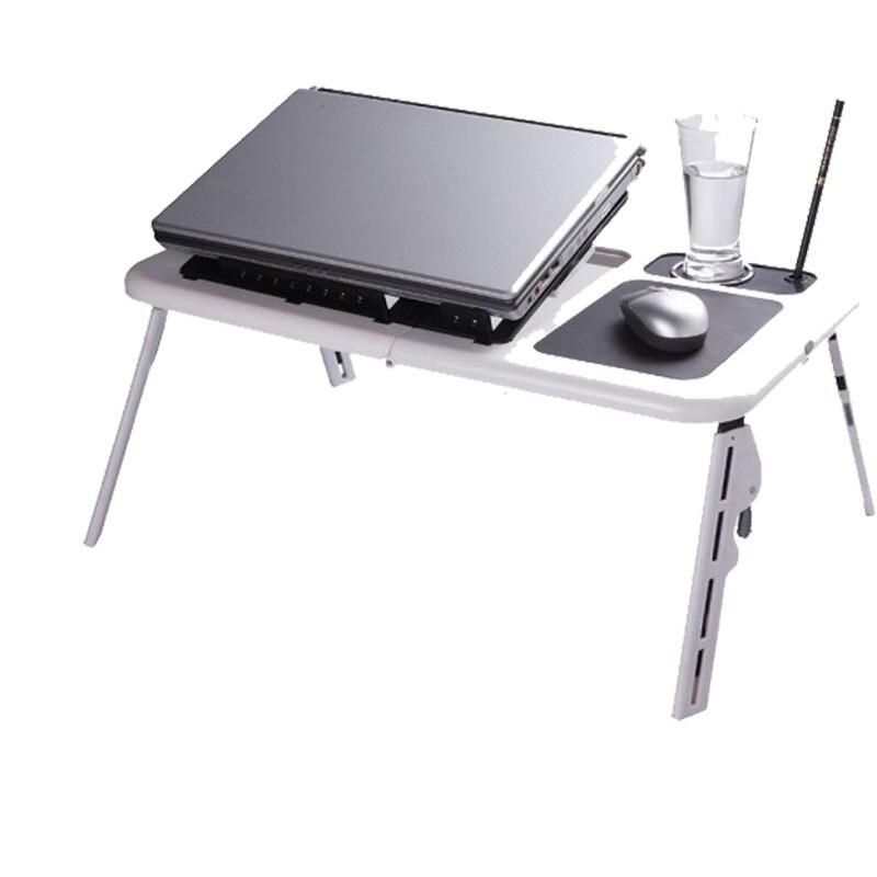 bilder für 2017 tragbare Laptopständer USB Folding Laptop Tisch Bett Laptop-tisch PC Suporte Notebook Stand mit 2 Lüfter + Maus-pad