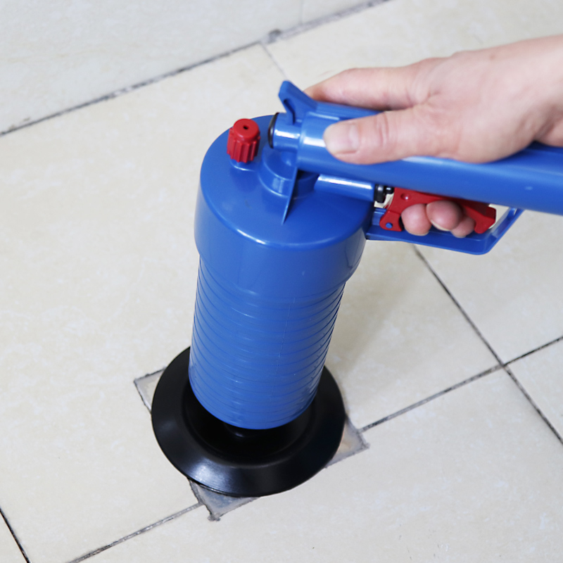 Air Power Drain Blaster Gun High-Pressure Powerful Manual Sink Plunger Opener  1