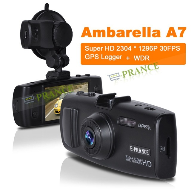 Promotion! Original GS6000 Car Video Registrator Ambarella A7 Supports 1296P Super HD GPS Logger H.264 IR Night Vision