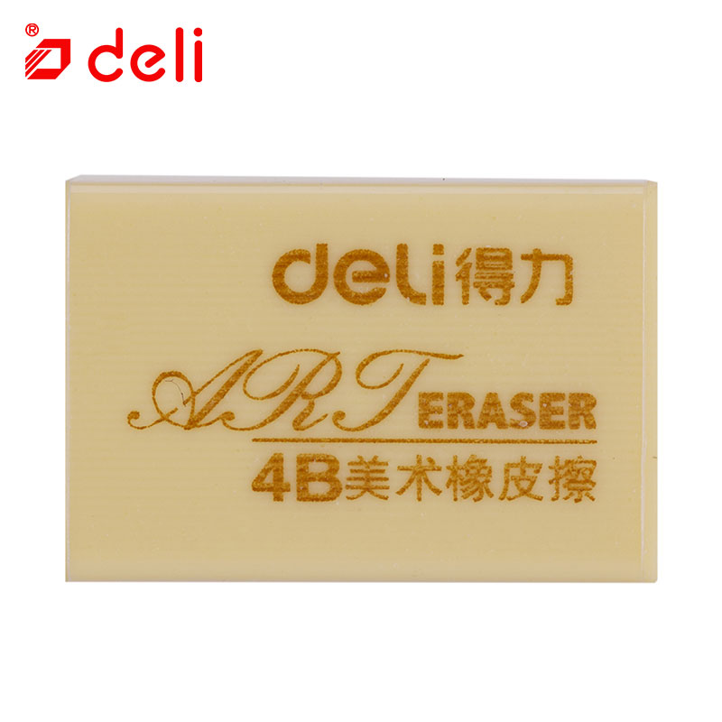 Deli 1Pc Erasers For Students 4B Soft Art Pencil Eraser Gift Stationery Writing Drawing Examination Eraser School Supplies