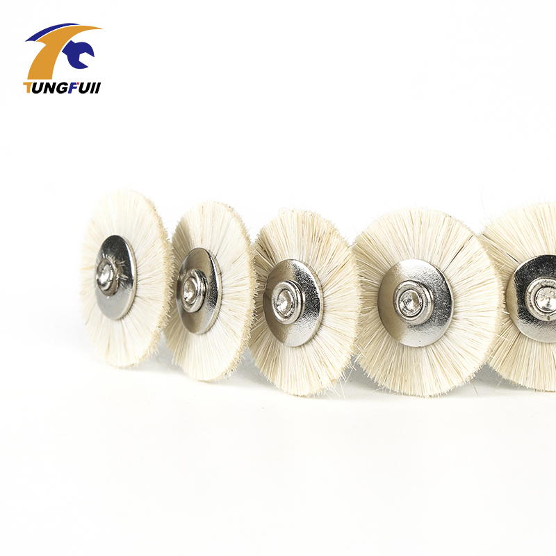 5PCS Abrasive Dremel Tools Accessories 3MM Shank Flat Nylon Bristle Wheels Abrasive Brush Buffing Polishing Dremel Rotary Tools
