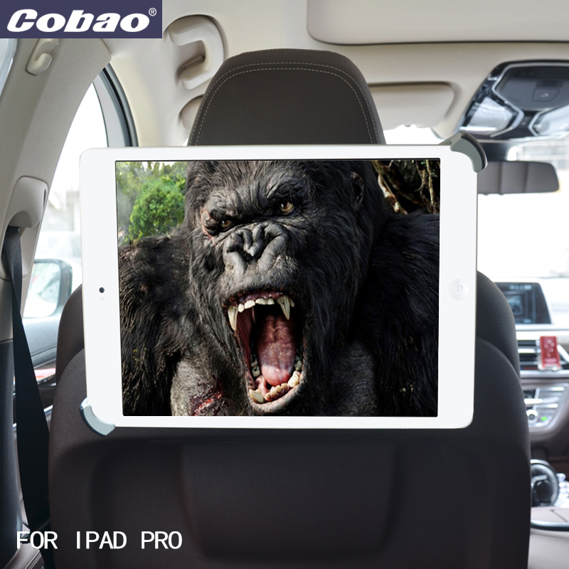 Cobao 9.5 10 11 to 14.5 inch tablet pc stand headrest mount for tablet car holder for Ipad 2 3 4 ipad air 9.7 12.9 inch Ipad Pro yunai 7 11 inch tablet car air vent mount stand holder for ipad new tablet car holder navigatio mount stand for samsung