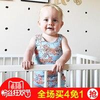 Летний комбинезон Bobo Choses/хлопковый цветочный Chestysuit облигации для маленьких мальчиков Спортивный костюм для девочек Одежда для малышей
