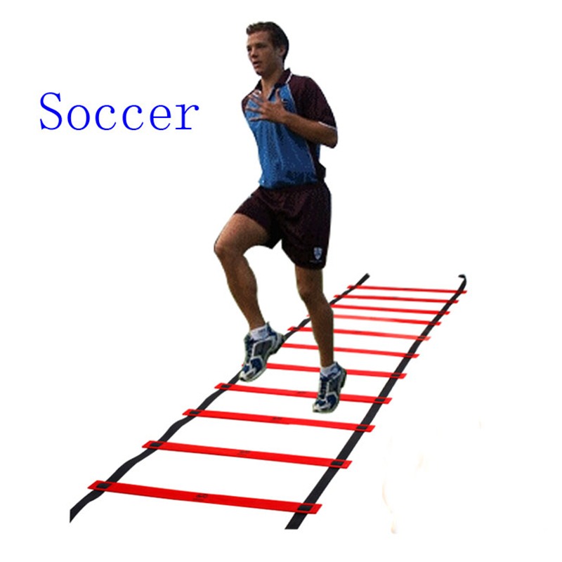 Soccer speed ladder pace football training sensitive exerciser brazuca Durable Flat rope ladders 4/6/8/10 meters ...