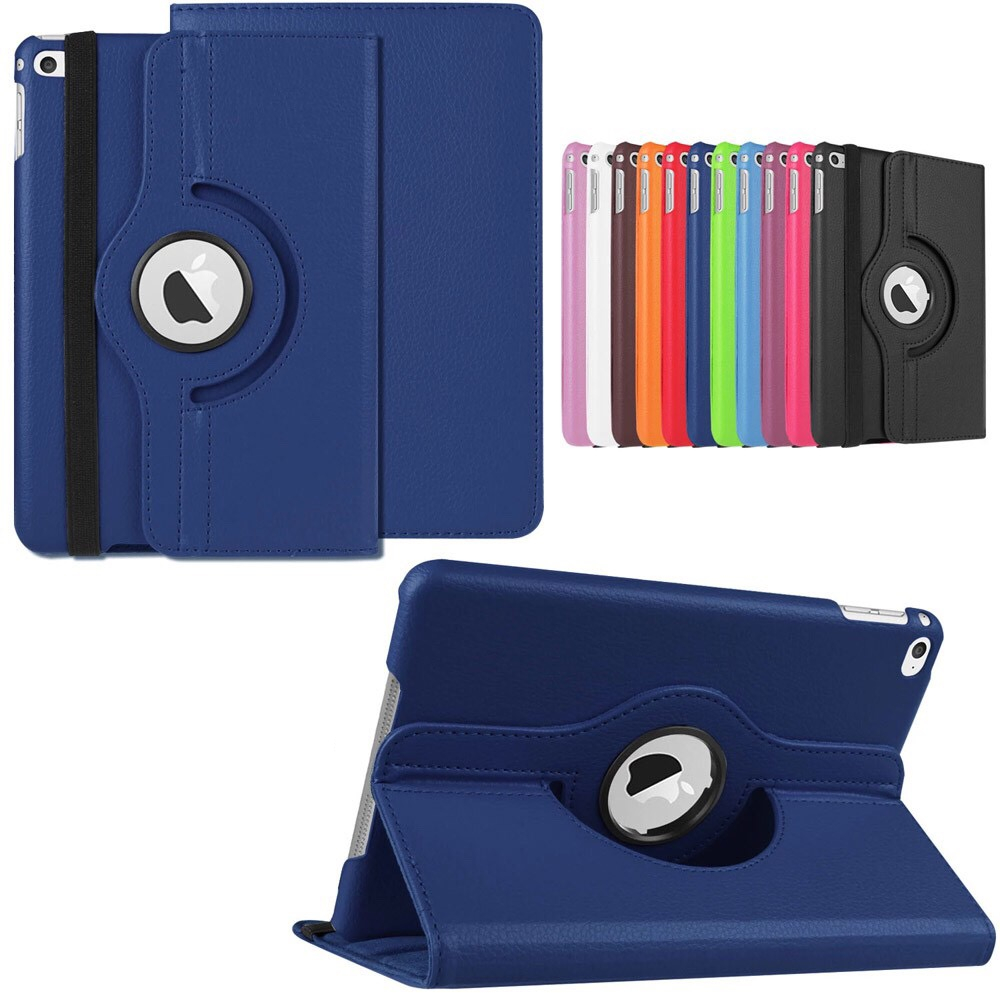 все цены на 360 Degree Rotating Stand Smart Case For Apple iPad mini 4 PU Leather iPad Cover With Stand Holder For mini 4