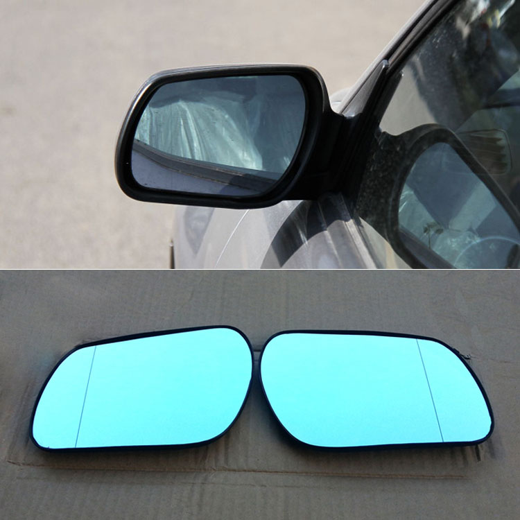 Ipoboo 2pcs New Power Heated w/Turn Signal Side View Mirror Blue Glasses For Mazda 6 2011