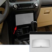 Хромированная Пластина Нержавеющаясталь подкладке Передняя и задняя коробка для хранения рамка Крышка Накладка для Toyota Prado FJ150 2010-2016