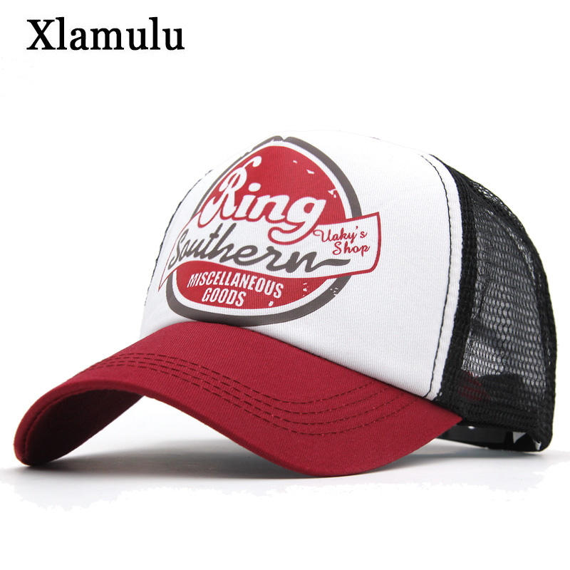 Xlamulu Mesh   Baseball     Cap   Women   Caps   Hats For Men Casquette Summer 5 Panel Snapback Male   Caps   Bone Hat Gorras Hip hop Dad   Cap