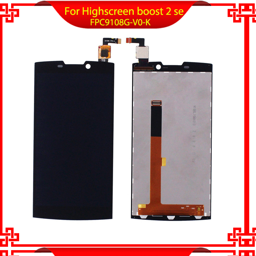 Mobile Phone LCD Display For Highscreen boost 2 se FPC9108G V0 K Touch Screen Digitizer Assembly