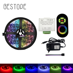 LED Strip Light 5050 2835 4.5M Diode LED Tape RGB Stripe Non Waterproof DC 12V Flexible LED Ribbon RF Controller Adapter