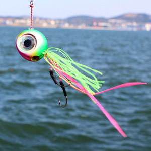 Image 4 - Metallo Jigging Esche In Gomma Jig Cursore Snapper Orata Testa Jig Ocean Barca Da Pesca Esche Mare 4pcs 60g 80g 100g 120g 150g 200g