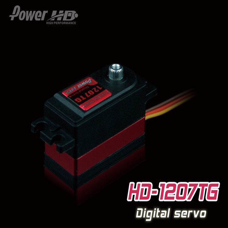 1pcs 100% orginal POWER HD DS-1207 TG 8KG high-speed metal gear digital servos tower pro mg90 metal gear servos with parts