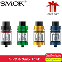 100 Original Smok TFV8 X Baby Tank 4ml Top Filling Adjustable Airflow TFV8 X Baby Atomizer